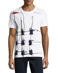 Burberry Scribble Check T Shirt White