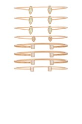 Kendra Scott Kinsley Bangle Set Metallic Copper