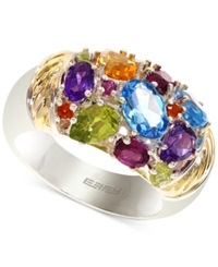 Effy Collection Effy Multi Stone Ring In 18K Gold Over Sterling Silver 3 1 3 Ct. T.W.