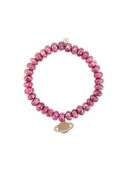 Sydney Evan 14Kt Gold Diamond Saturn Planet Beaded Bracelet Pink