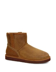 Ugg Classic Mini Shearling Lined Leather Boots Chestnut