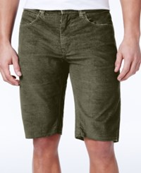 Ezekiel Men's Bryce Slim Fit Stretch Denim Shorts Olive
