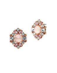 Marchesa Cluster Button Stud Earrings Rose Gold