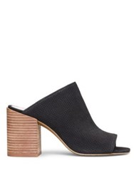 Kenneth Cole Karolina 3 Leather Block Heel Mules Black