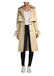 Milly Water Repellant Duchesse Trench Coat Khaki