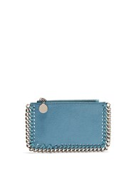 Stella Mccartney Falabella Coin Purse And Cardholder Turquoise