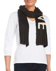 Wooden Ships Love Knit Scarf Black