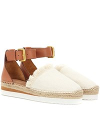 See By Chloe Canvas And Leather Espadrilles White