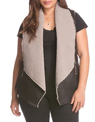 Bb Dakota Plus Sherpa Lined Vest Black