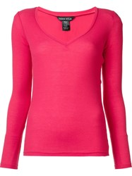 Thomas Wylde 'Satisfaction' V Neck Top Pink Purple