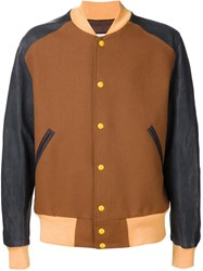Maison Martin Margiela Maison Margiela Colour Block Bomber Jacket Brown