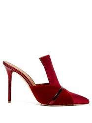 Malone Souliers Danielle Velvet And Satin Mules Red Multi