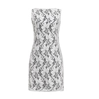 Rumour London Chelsea Sleeveless Lace Overlay Dress White