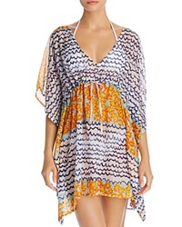 Echo Fleur De La Mer Butterfly Tunic Swim Cover Up Pale Turquoise