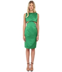 Zac Posen Two Part Cropped Dress With Open Back Kelly Green Women's Dress