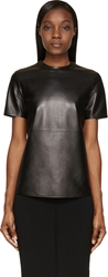 Givenchy Black Grained Leather T Shirt