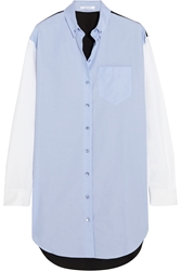 Carven Color Block Cotton Oxford Shirt