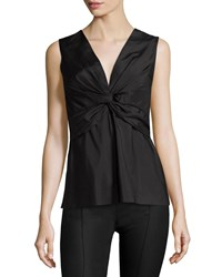 The Row Krianni Sleeveless Twist Front Top Black