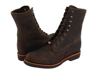 Chippewa 8 Apache Lace Chocolate Men's Work Boots Brown