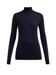 Extreme Cashmere No.96 Breeze Roll Neck Cashmere Sweater Navy