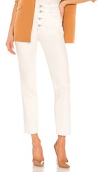 Ag Adriano Goldschmied Isabelle Button Up Straight. Moderne White