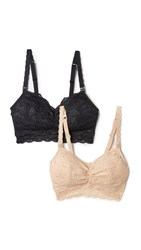 Cosabella Never Say Never Maternity Bra 2 Pack Black Blush