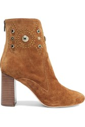 Sigerson Morrison Sheyla Embellished Suede Ankle Boots Light Brown