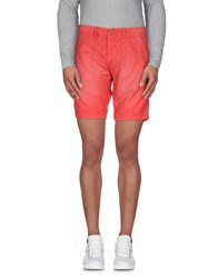 Roy Rogers Roy Roger's Trousers Bermuda Shorts Men Coral