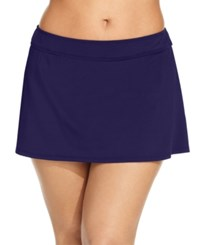 Anne Cole Plus Size Swim Skirt Women's Swimsuit Navy