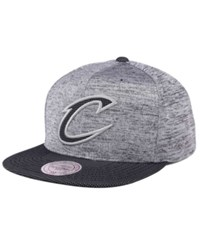 Mitchell And Ness Cleveland Cavaliers Space Knit Snapback Cap Gray