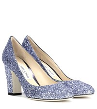 Jimmy Choo Billie 85 Glitter Pumps Blue
