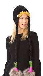 Mischa Lampert Nolita Hat Black Green Magenta Natural