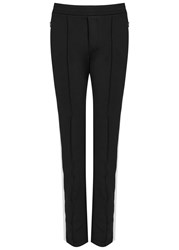 Moncler Black And White Jersey Trousers