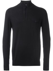 Paolo Pecora Roll Neck Sweater Blue