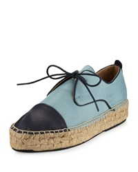 Charles David Harper Leather Espadrille Sneaker Blue Navy