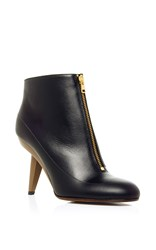Marni Ankle Boot With Sculpted Heel Black