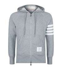 Thom Browne Engineered Striped Hoodie Male Grey