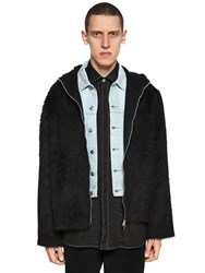 Our Legacy Hooded Mohair And Alpaca Blend Jacket Black