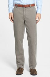 Cutter And Buck Men's Big Tall 'Curtis' Flat Front Five Pocket Cotton Twill Pants Twig Brown