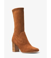 Eloise Suede Mid Calf Boot
