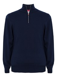 Thomas Pink Geoffrey Merino Zip Neck Jumper Navy
