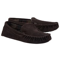 John Lewis Alfred Checked Slippers Brown