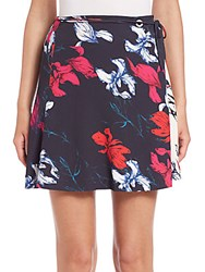 Thakoon Self Tie Floral A Line Skirt Pink Multi