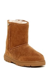 Bearpaw Patriot Bleached And Dyed Genuine Sheepskin Lined Boot Brown