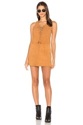 The Jetset Diaries Hazan Suede Dress Burnt Orange