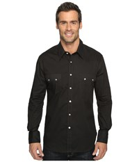 Rock And Roll Cowboy Long Sleeve Snap B2s9063 Black Men's Long Sleeve Button Up