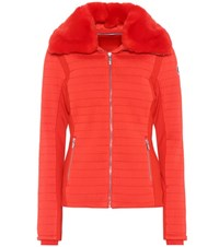 Fusalp Montecarlo Fur Trimmed Ski Jacket Red