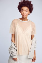 Anthropologie Marissa Mesh Top Nude