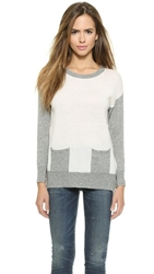 Top Secret Berkshire Crew Neck Sweater Ivory Grey
