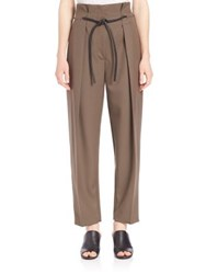 3.1 Phillip Lim Origami Pleated Wool Pants Fir Green